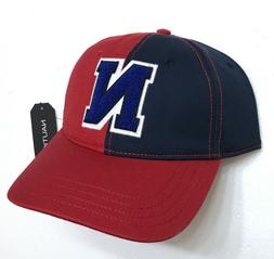 new$30 NAUTICA LETTER N HAT navy blue red white unstructured