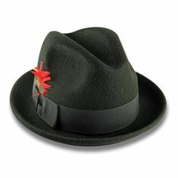 New Men 's 100% Wool Fedora Trilby Hat Style LH-1 Size S M L