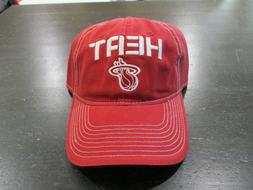NEW Miami Heat Strap Back Hat Cap Red White NBA Basketball A