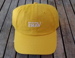 NEW VANS OFF THE WALL TEAM COURTSIDE YELLOW MENS DAD HAT STR