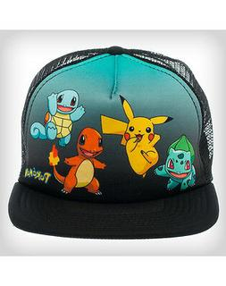 new pokemon group shot trucker snapback cap