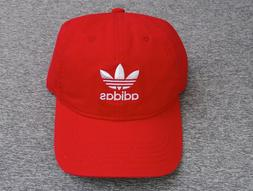 New Adidas Scarlet Relaxed Red Unisex Mens Dad Hat RHTADI-12
