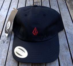 NEW VOLCOM SURFING TEAM DADDY BLACK RED MENS DAD SNAPBACK SP