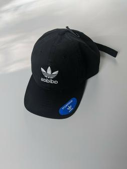 NEW ADIDAS TREFOIL LOGO STRAP-BACK RELAXED HAT DAD BASEBALL