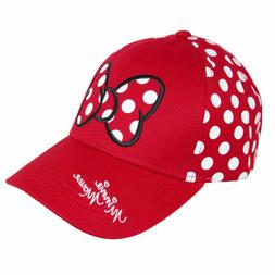 New Disney Women's Minnie Mouse Polka Dots Baseball Hat Cap