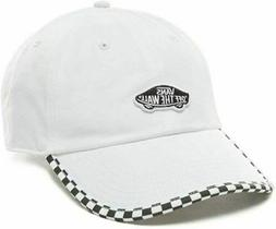 NWT VANS Off The Wall CHECK IT HAT 6-Panel Dad Cap WHITE BLA