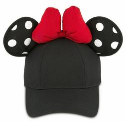 NWT Disney Parks Women's Minnie Mouse Ear Baseball Hat/Cap A