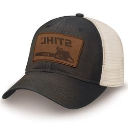 Officially Licensed Stihl Washed Black Twill and Mesh Cap