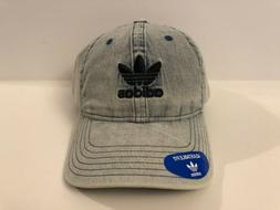 Adidas Original Relaxed Blue Men Strapback Dad Hat Denim Sty