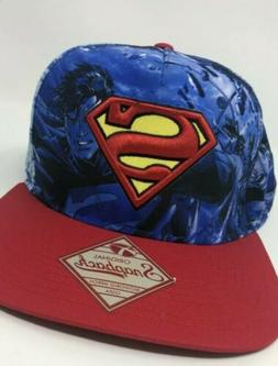 Original superman hat snapback blue/red hat  adjustable Base