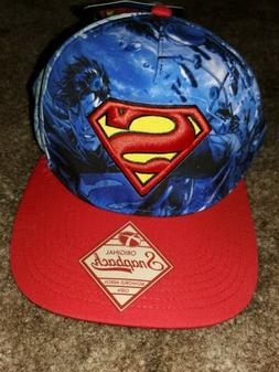 Original Superman Snapback Blue/Red Hat  Adjustable Baseball