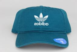 Adidas Originals Relaxed Strapback Dad Hat Real Teal White C