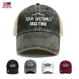 Outdoor Camping Hair Don't Care Dad Hat Cotton Baseball Cap