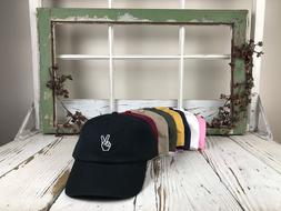 Peace Hands Embroidered Baseball Cap Dad Hat - Many Styles