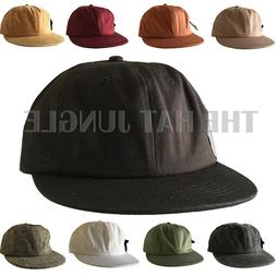09a9d2412fe Plain Unstructured Dad Hat Adjustable Buckle Strapback Cap F