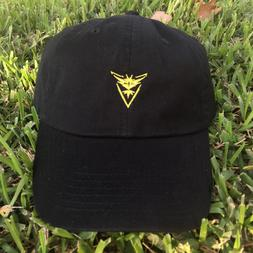 Pokemon Go Team Instinct Custom Polo Style Strapback Dad Hat