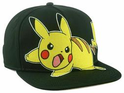 Pokemon Pikachu Bioworld Men's Adjustable Snapback Cap Hat -