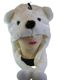 Polar Bear Hat - Winter Wear Plushy Animal Hat