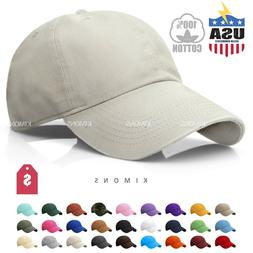 Polo Style Baseball Cap Ball Dad Hat Adjustable Plain Solid
