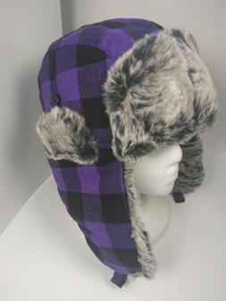 City Hunter  Premium Trapper Hat - White Plaid