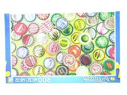 PuzzleBug 500 Piece Puzzle ~ Vintage Bottle Caps