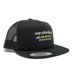 QUIKSILVER THE CLASSIC YUPOONG BLOCK ISLAND BLACK SNAP BACK