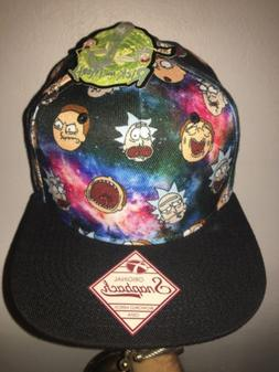 Rick and Morty Bioworld Merch Adult Swim Snapback Flat Brim