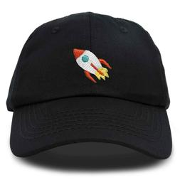 DALIX Rocket Hat Space Dad Caps Embroidered Custom Cap Cotto