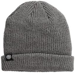 686 Men's Roll-Up Beanie, Heather Charcoal, One Size