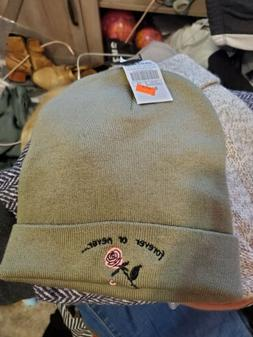 Empyre Ryan Forever Or Never Olive rose Fold over Beanie Hat