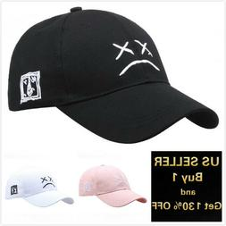 Sad face Polo Style Cotton Baseball Cap Ball Dad Hat Adjusta