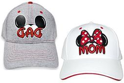 Set Disney Dad Mickey & Mom Minnie Hats Baseball Caps Men's