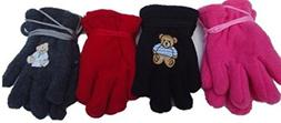 Set of Four Pairs Mongolian Fleece Gloves for Ages 3-12 Mont