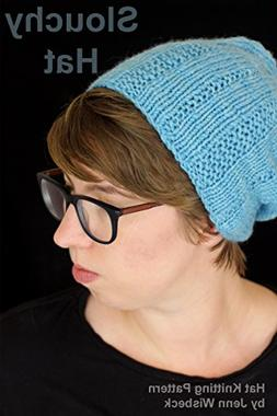 Slouchy Textured Hat Knitting Pattern: A Quick and Easy Hat