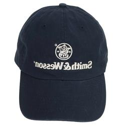 SMITH & WESSON Trademark Logo Navy Blue White Slouch Cap Dad