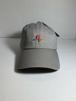 Sony Playstation Logo - Embroidered Hat Dad Cap - Grey - New