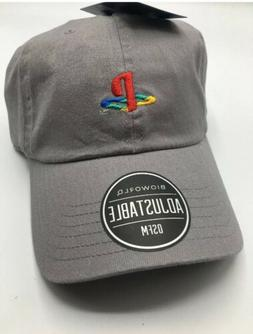 ad035f65 Editorial Pick Sony Playstation Logo - Embroidered Hat Dad Cap - Grey New w
