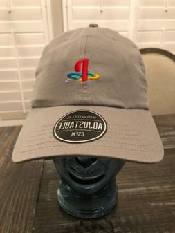Sony Playstation PS4 PS3 PSP Logo Embroidered Cap Hat Grey N