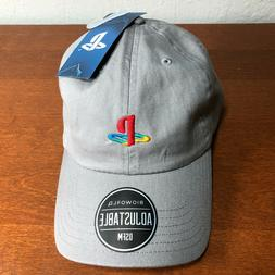 Sony Playstation Subtle Logo Embroidered Dad Cap Gray Game H