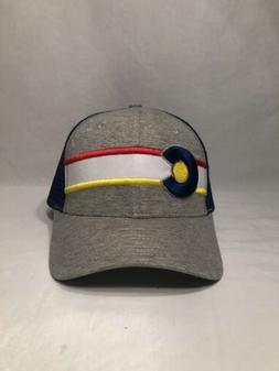 State Of Colorado Flag Mesh Snapback Trucker Hat