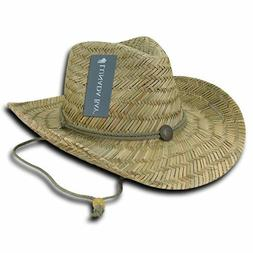 DECKY Straw Lifeguard Cowboy Hat Hats One Size Mens Womens B