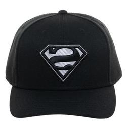 Superman Logo Carbon Fiber Black Pre-Curved Snapback Cap Bio