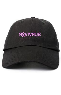 Survivor Breast Cancer Unstructured Dad Hat Adjustable Cap-B