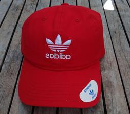 ADIDAS TEAM RELAXED RED STRAP UNISEX WOMENS SPORT DAD SNAPBA