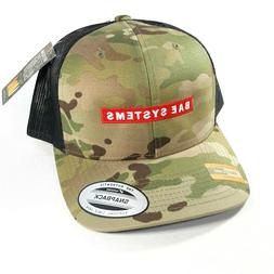 The Classics Yupoong MultiCam Camo Trucker Hat BAE Systems S