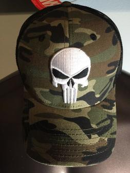 The PUNISHER Marvel COMIC Book SKULL movie MEN'S New Snapbac