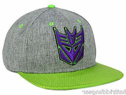 Bioworld Transformers Decepticon Shiny Green Flat Visor Snap