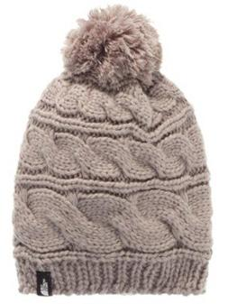 The North Face Triple Cable Pom Beanie Metallic Silver, One