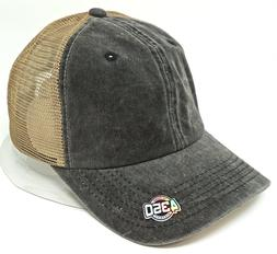 Unconstructed Trucker Style Dad Hat Pigment Washed Distresse