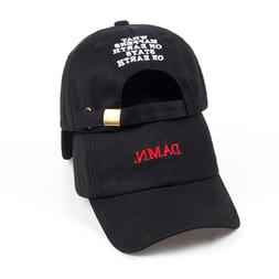 Unisex Spring summer DAMN <font><b>Hats</b></font> Embroider